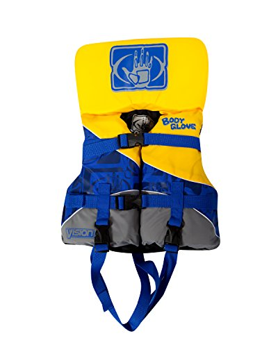 Body Glove Vision U.S. Coast Guard Approved Type III Nylon PFD Life Jacket, Green/Yellow/Blue, Infant Less than 30-Pound Buckle Type Iii Life Vest