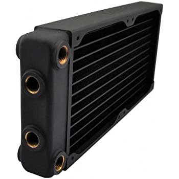 XSPC EX240 Radiator, 120mm x 2, Dual Fan, Multiport, Black