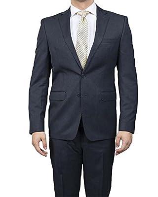 Calvin Klein Men's Navy X-Fit Two-Piece Suit - 36 Short