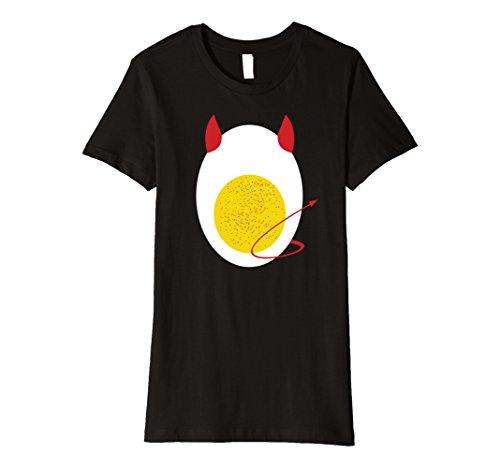 Womens Funny Halloween Deviled Egg Costume Adult and Kid Tshirt XL Black -