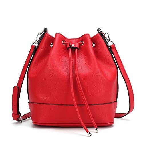 Drawstring Bucket Bag for Women Large Crossbody Purse and Shoulder Bag Suede Tote Handbags (Suede Cross Shoulder Tote)