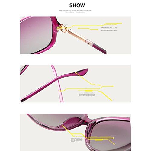Sol 1 Gafas Femeninas de 1 Color Delgadas polarizadas Coreanas Sol Gafas de Gafas DT Uxp7wa7