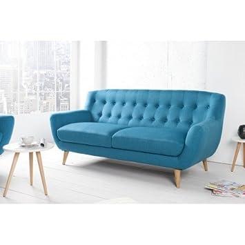 Sofa Skandinavisches Design, 3-Sitzer, Polyester Farbe Türkis ...