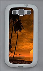 Samsung S3 Case Landscapes beach 2 TPU Custom Samsung S3 Case Cover White