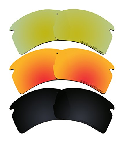 3 Pairs Replacement Lenses Polarized K7 for Oakley FLAK 2.0 XL - 08 Oo9188