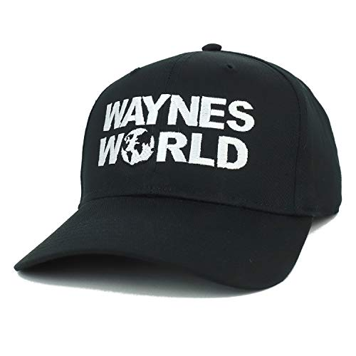Armycrew Wayne's World Embroidered High Profile Baseball Cap - Black -