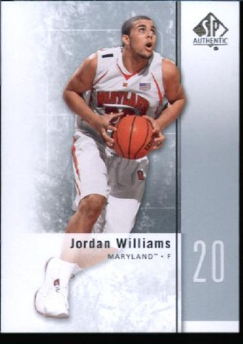 2011/12 Upper Deck SP Authentic Basketball ROOKIE Card #36 Jordan Williams Terrapins