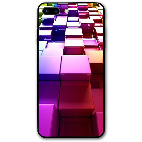 3d Reflector Colorful Cube IPhone 8 Plus Shield Is Full Of Hardness, Dust-proof And Anti Fingerprint Design Of Mobile Phone Shell