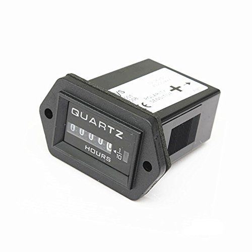 Quartz Hour Meter - Qiorange 12v to 36v Truck Tractor Diesel Outboard Engine Hour Meter Rectangular