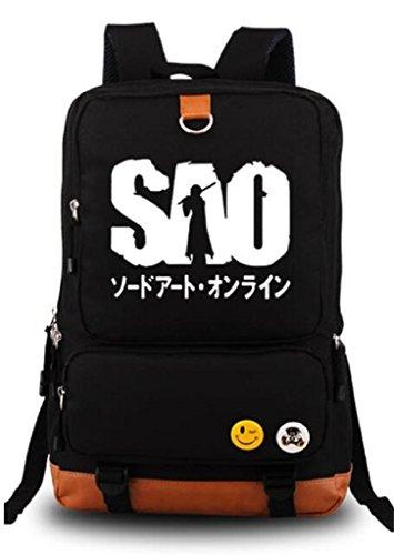 Siawasey Sword Art Online Anime SAO Cosplay Luminous Backpack Shoulder Bag School Bag