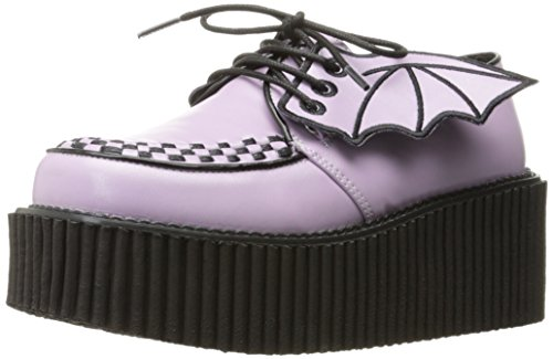 Demonia Women Cre205/Lvpu Fashion Sneaker Lavender Vegan Leather