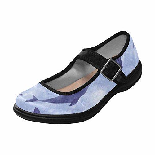 Interestprint Womens Comfort Mary Jane Flats Casual Scarpe Da Passeggio Multi 8