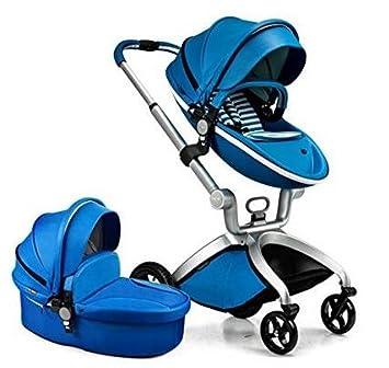 Hot Mom - Carrito de bebé 2 en 1, carrito y silla de paseo con cuna: Amazon.es: Bebé