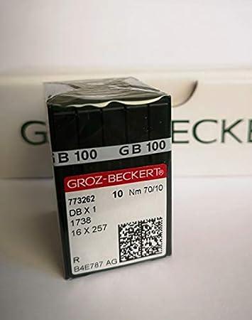 10 Nähnadeln DB x1 1738 Stärke: Nm 110 GROZ-BECKERT Nadeln für Nähmaschine