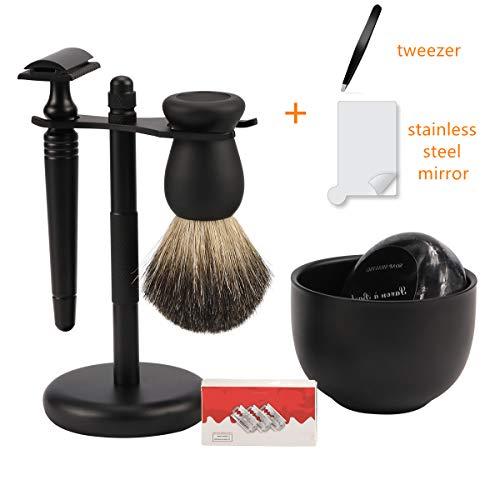 Matte Black Shaving Kit Gift for Men -