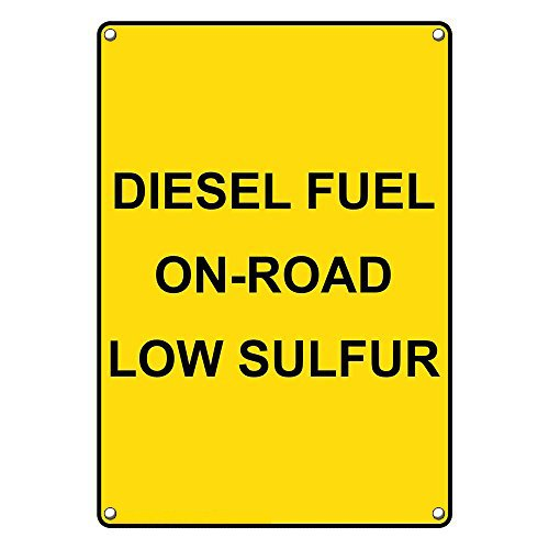 - Weatherproof Plastic Vertical Diesel Fuel On-Road Low Sulfur Sign with English Text