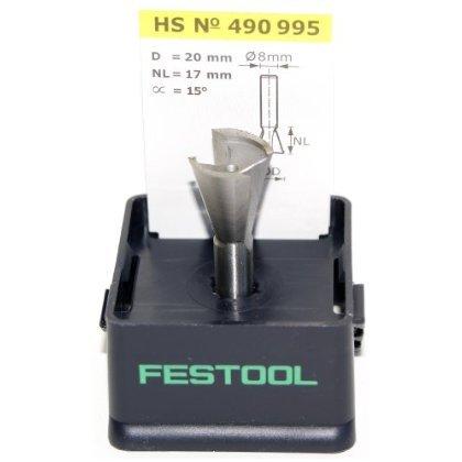 20 mm FESTOOL Grat-//Zinkenfr/äser HS Schaft 8 mm Verschiedene Durchmesser Durchmesser