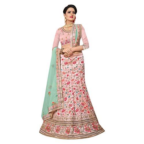 seta da donna Jari ETHNIC per cerimonia Choli Abiti 2856 indiana sposa Lehenga matrimoni per Work da Designer Dupatta EMPORIUM Abiti di wHxqHaOtA