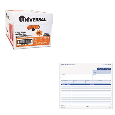 KITTOP3834UNV21200 - Value Kit - Tops Snap-Off Shipper/Packing List (TOP3834) and Universal Copy Paper (UNV21200)