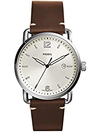Men's FS5275 The Commuter Three-Hand Date Brown Leather Watch