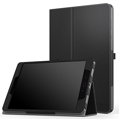 Verizon ASUS ZenPad Z10 Case, MoKo Ultra Compact Slim Folding Stand Cover Case with with Auto Wake / Sleep & Built-in Hand Strap for ASUS ZenPad Z10 (ZT500KL) 9.7 Verizon Tablet 2016, Black
