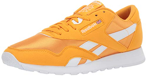 Reebok Classic Nylon Sneaker, Trek Gold/White, 10 M US