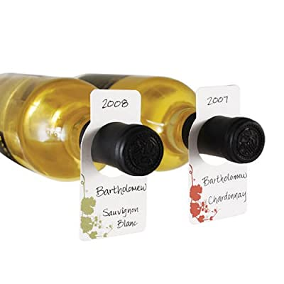 Wine Cellar Tags - Set of 100 - Comes with 2 Writing Pens -