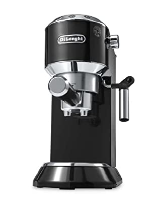 De'Longhi Dedica Coffee Machine EC680.BK, 15 Bar Espresso Pump - Black by De'Longhi