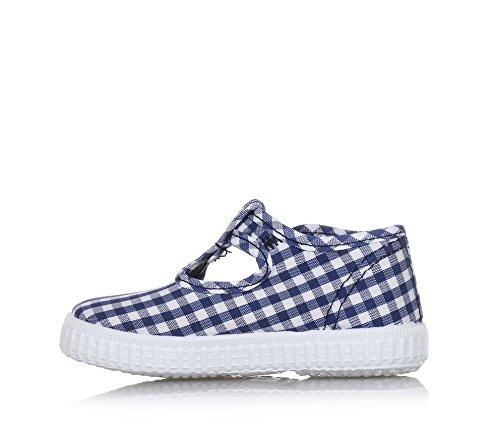 Blu Bébé Marine Faux Chaussures Beb Boucle Blanches Cienta Bouton 8tw4dqw