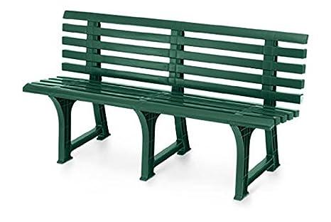 Panchina In Plastica Verde.Panchina Panca 3 Posti In Resina Verde Isotta Giardino Casa Terrazzo 000120