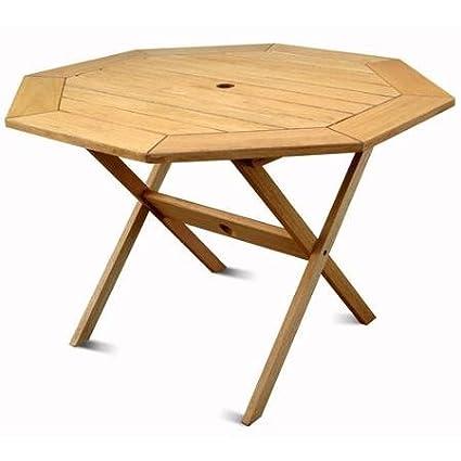 Milano FSC Eucalyptus Wood Outdoor Octagonal Table