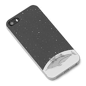 WQQ Ballena de dibujos animados y patrón de estrella Caso suave de TPU para el iPhone 5/5S