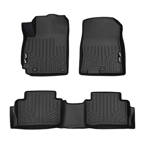 MAX LINER A0371/B0371 Custom Fit Floor Mats 2 Row Liner Set Black for 2018-2019 Hyundai Kona - No Electric Models ()