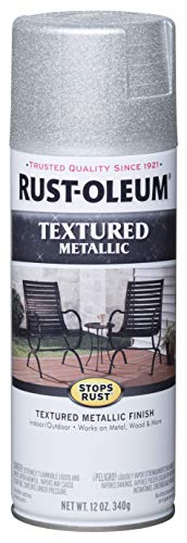 Rust-Oleum 251053 Metallic Textured Spray Paint, 12 oz, Silver