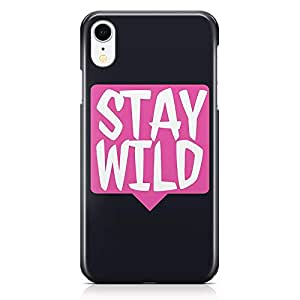 Loud Universe Phone Case Fits iPhone XR Wrap around Edges Wild Phone Case Stay Wild Motivation 3D iPhone XR Cover