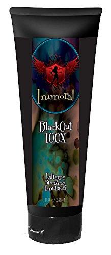 Immoral Lotion de bronzage, Blackout Extreme 100X bronzage, 8 Fluid Ounce