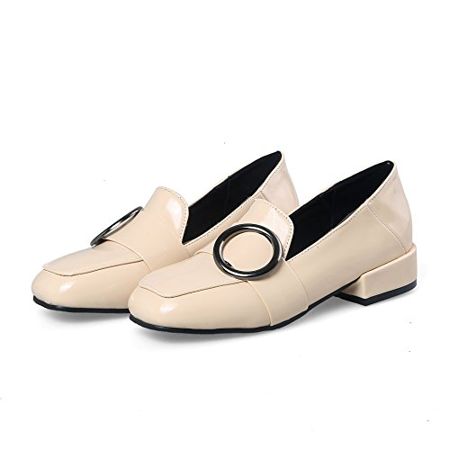 amp;S Bloque Cabeza Cuadrada White Mujeres Boca Mei Rice Zapatos Superficial de BTnqW6S