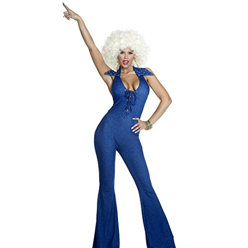 Forplay Women's Disco Fever Sexy Costume, Blue, S/M ()