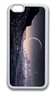 MOKSHOP Adorable fantasy planet surface Soft Case Protective Shell Cell Phone Cover For Apple Iphone 6 Plus (5.5 Inch) - TPU White