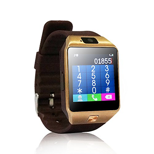 Yuntab-SW01-Watch-Bluetooth-Smart-Watch-Fitness-Wrist-Wrap-Watch-Phone-with-Camera-Touch-Screen-for-iPhone-Samsung-HTC-LG-Android-Phone-Smartphone-with-SIM-card-Brown