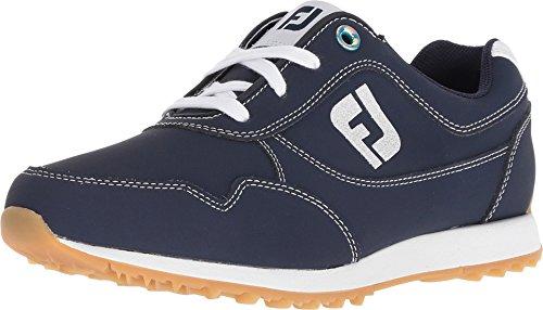 FootJoy Women's Sport Retro Golf Shoes (M-10, Navy/White)