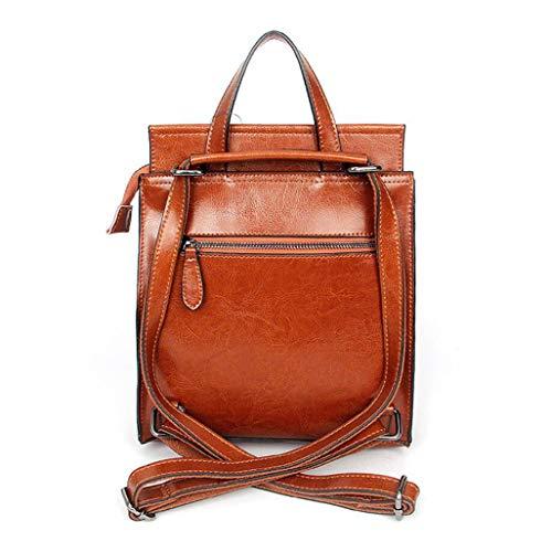in pulire donna rete a borsa rossa capacità facile shopping grande tracolla Borsa adatta pelle viaggi da Mtxln per messenger vintage appuntamenti qAEgSOw