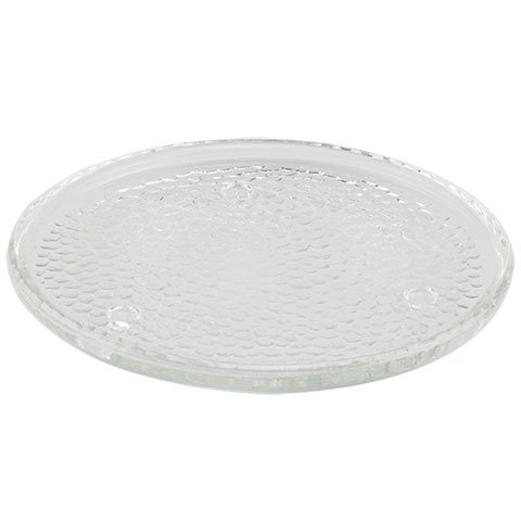 (Moonridge Decor 6-Inch Round Clear Glass Plate Candleholders Set of 5)