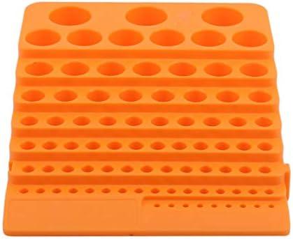 KXYSLY スクリュードライバビットホルダーボックスブロック ブラックミリメートルプラスチックドリルビットコレットチャックフライスカッター収納ボック 工具収納ケース