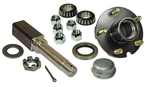 Rigid Hitch Single - 5-Bolt on 4-1/2 Inch Hub Assembly (SQ-2000545) Includes (1) Square Stock 1 Inch Straight Spindle & Bearings