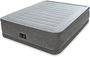 """Intex Comfort Plush Elevated Dura-Beam Airbed, Bed Height 18"""", Queen"""