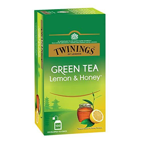 Twinings Green Tea Lemon & Honey, 100 Teabags, Green Tea, Sweet Honey & Tangy Lemon