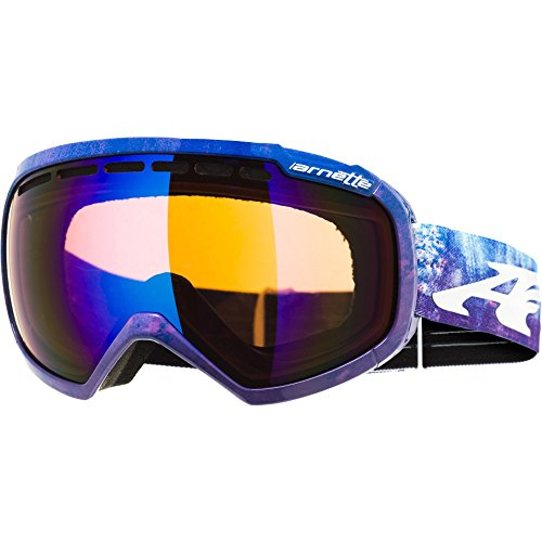 Chrome Watercolor - ARNETTE SKYLIGHT SNOW GOGGLES AN5004 FOR SKIING AND SNOWBOARDING (Watercolor w/ Sapphire Chrome Lens)