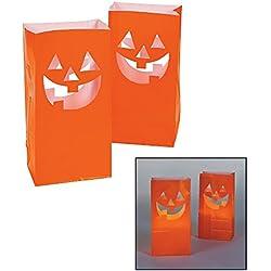 Fun Express JackO'Lantern Luminary Bags/Pumpkins/Halloween/Party Supplies Novelty
