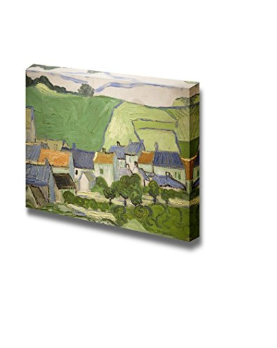 View of Auvers by Vincent van Gogh Print Famous Painting Reproduction